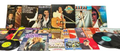 Quantity of vinyl records to include an Elvis Presley Greatest Hits box set and other records by Elv
