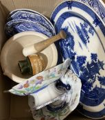 Wedgwood stoneware pestle and mortar impressed 'Best Composition' beneath