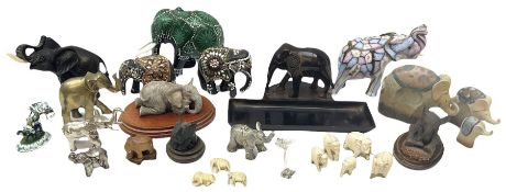 Collection of elephant figures