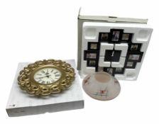 Multiple photo frame wall clock H40cm