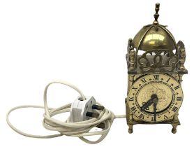Small brass Smiths type lantern clock