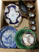 Victorian and later ceramics to include a pair of Coalport twin handled serving plates