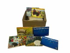 43 various Brooke bond tea and other albums with cards