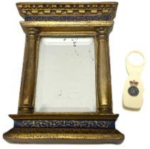 Small 20th century gilt mirror