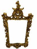 18th century style ornate gilt framed wall mirror