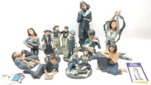 Group of eleven limited edition Chloe by Genesis figures