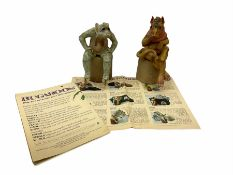 Pair of Bugaboos figures of Frank and Edna with paperwork