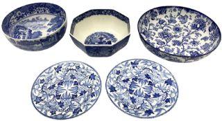 Copeland Spode blue and white Italian pattern bowl