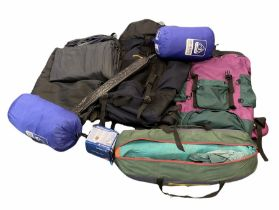Quantity of camping equipment to include blow up air mattress