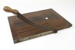"A BUCK & HICKMAN paper or leather guillotine with 12"" blade G+"