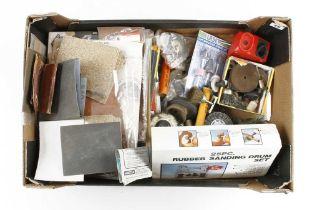 Quantity of abrasive paper, sanding drums etc G
