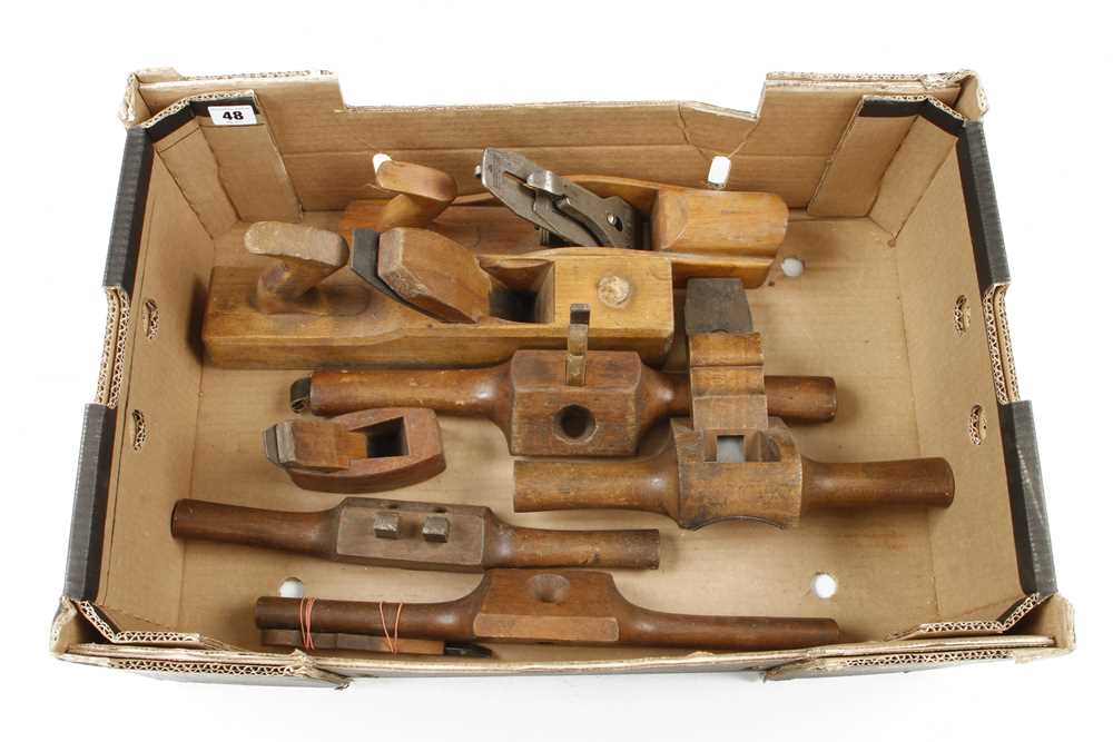 A MARPLES jack plane and 6 other planes and routers G+