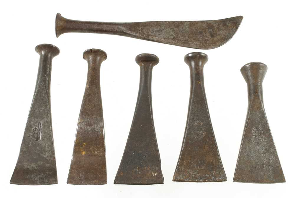 Six caulking irons G++