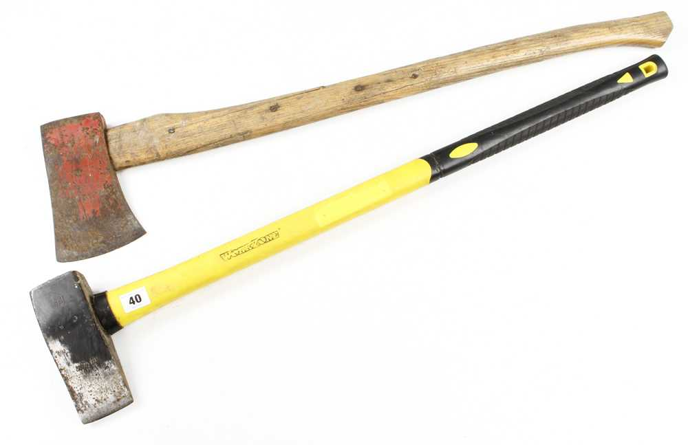 A WORKZONE splitting axe and another G-
