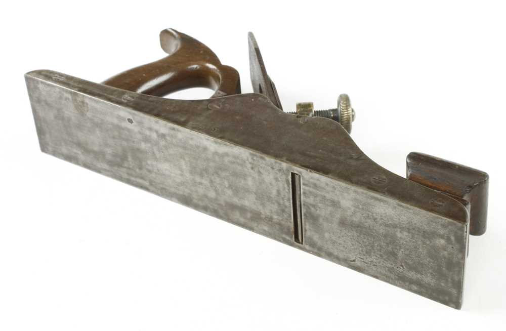 """A 13 1/4"""" Scottish style iron panel plane with brass lever G+ - Image 3 of 3"""
