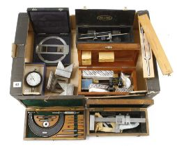 Eight engineer's tools in orig boxes G+