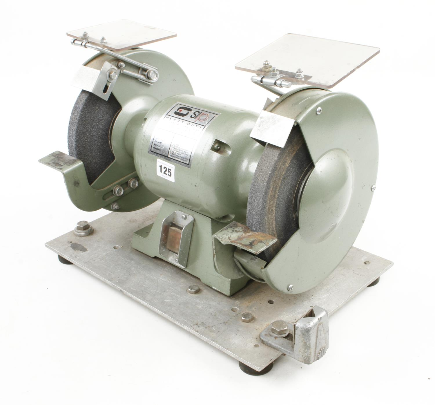 """An SIP 8"""" heavy duty bench grinder 240v Pat tested G++ - Image 2 of 2"""