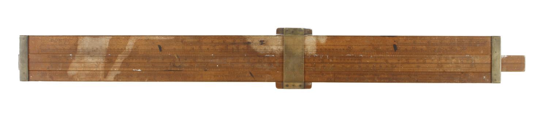 "A 23"" boxwood single slide FARMAR'S Wine & Spirit Merchant's Reducing Rule size 1 (1968) The"