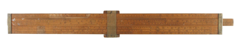 "A 23"" boxwood single slide FARMAR'S Wine & Spirit Merchant's Reducing Rule size 1 (1968) The - Image 2 of 4"