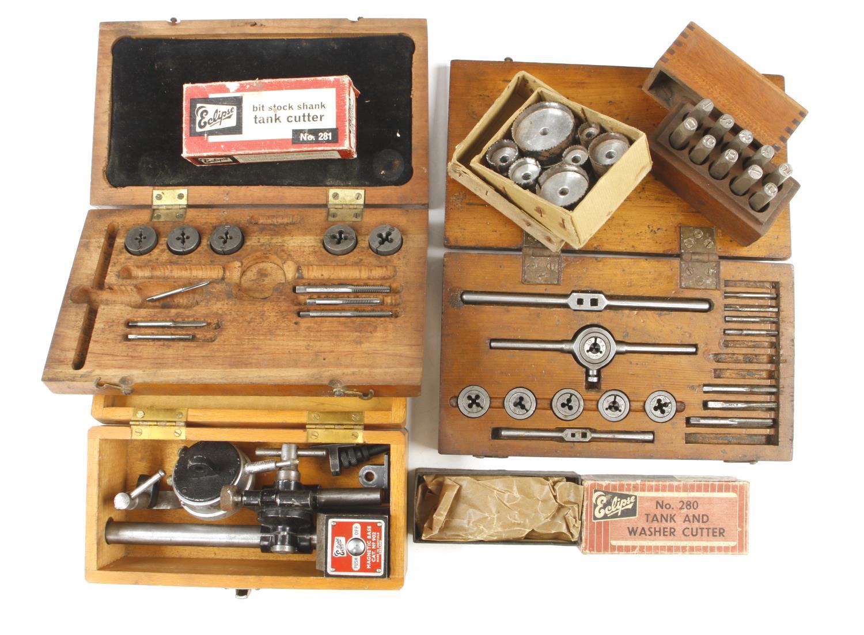 Engineers dial gauge, number stamps etc G