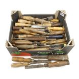 A quantity of old chisels G-