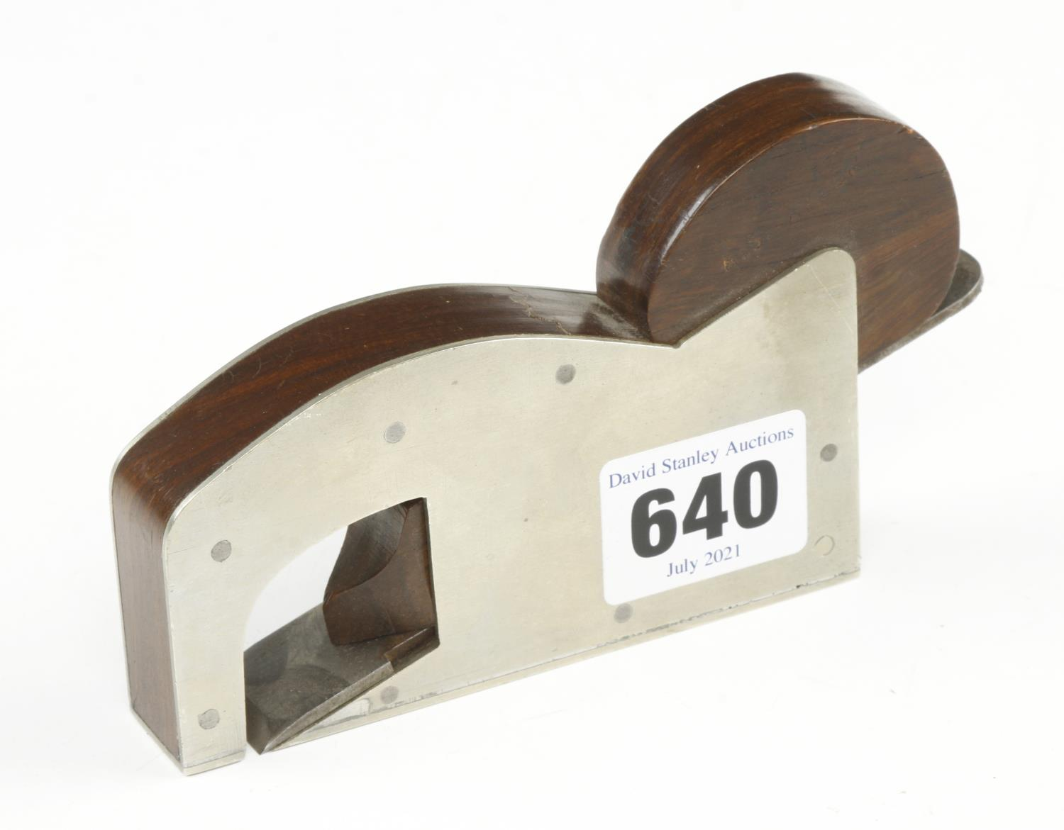 """A recent craftsman made gunmetal rebate plane 4"""" x 3/4"""" with teak infill and wedge G"""