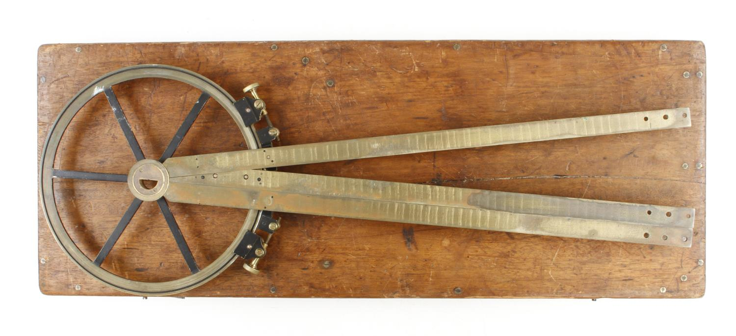A lacquered brass course indicator by CARY London No R199 with extensions in orig box G+ - Image 3 of 3