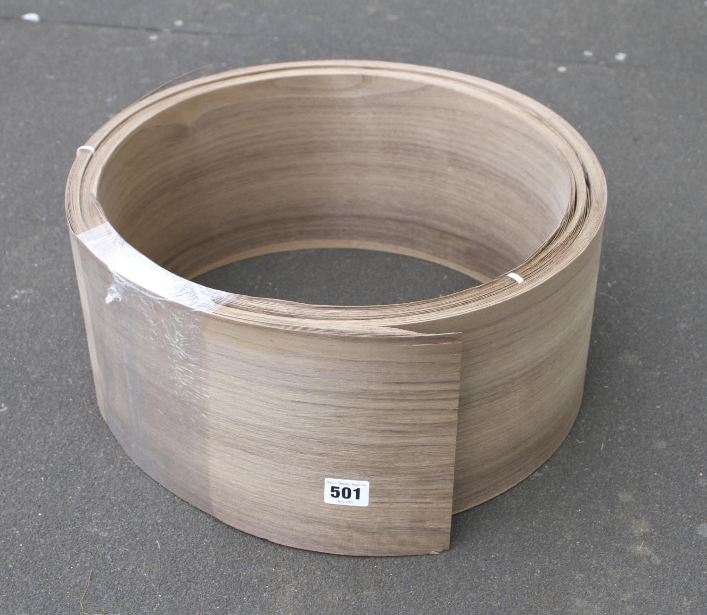 "A roll of 7"" x 10' walnut veneer G"