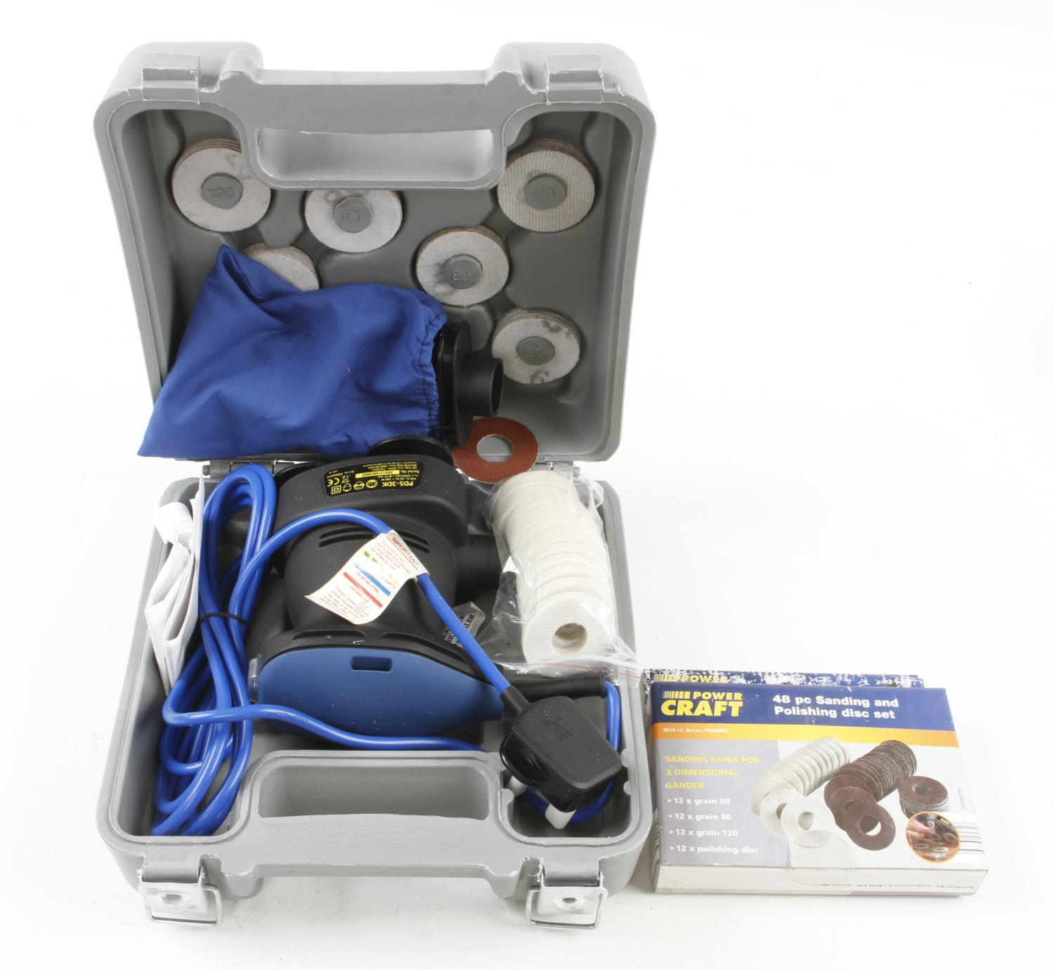 An unused POWERCARFT 3D sander in orig box Pat tested F - Image 2 of 2