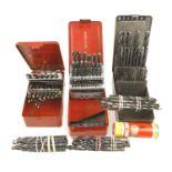 Three sets of HSS drill bits etc G