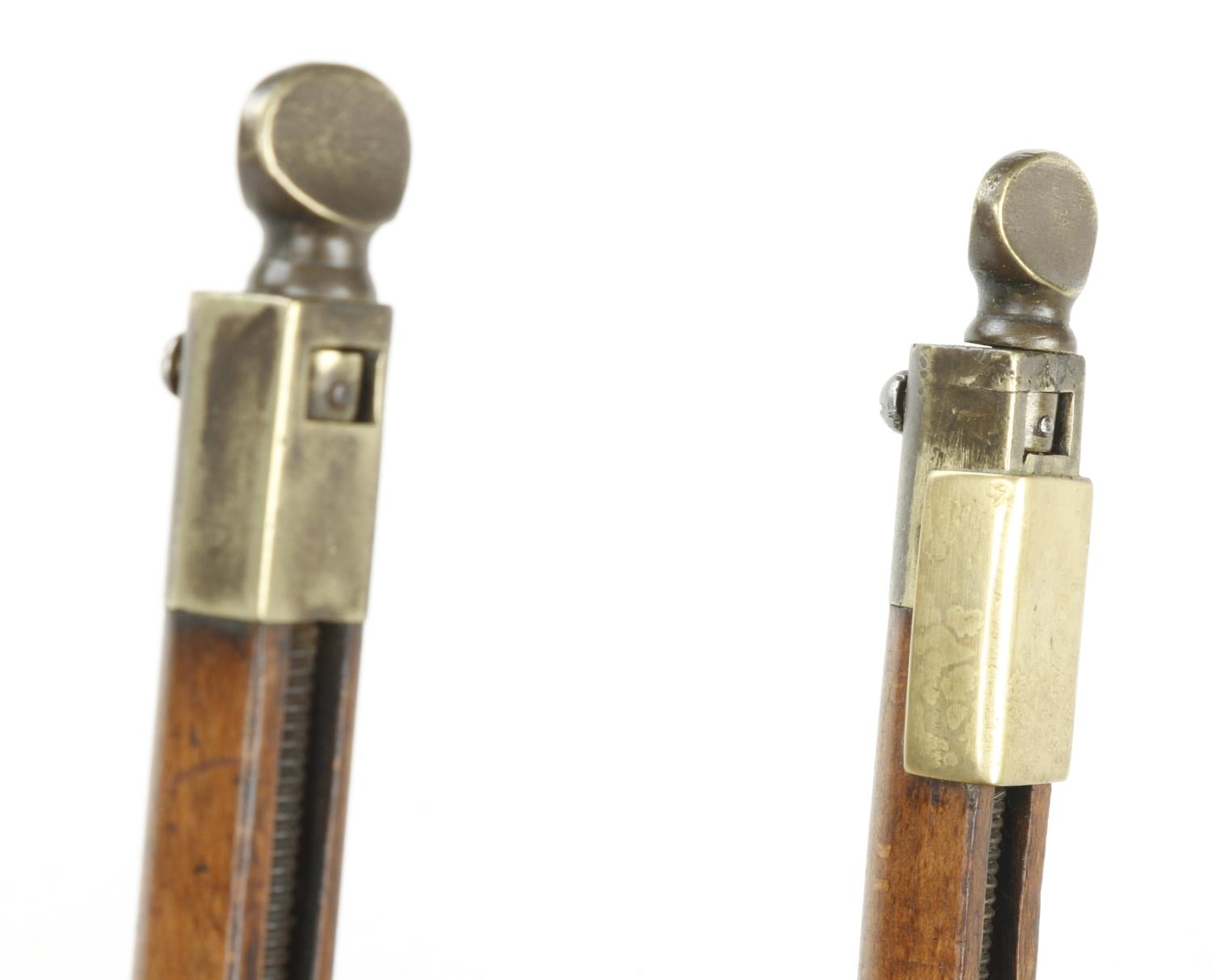 An unusual sash fillester with brass adjusting screws to end of calibrated stems. Brass repair to - Image 5 of 5