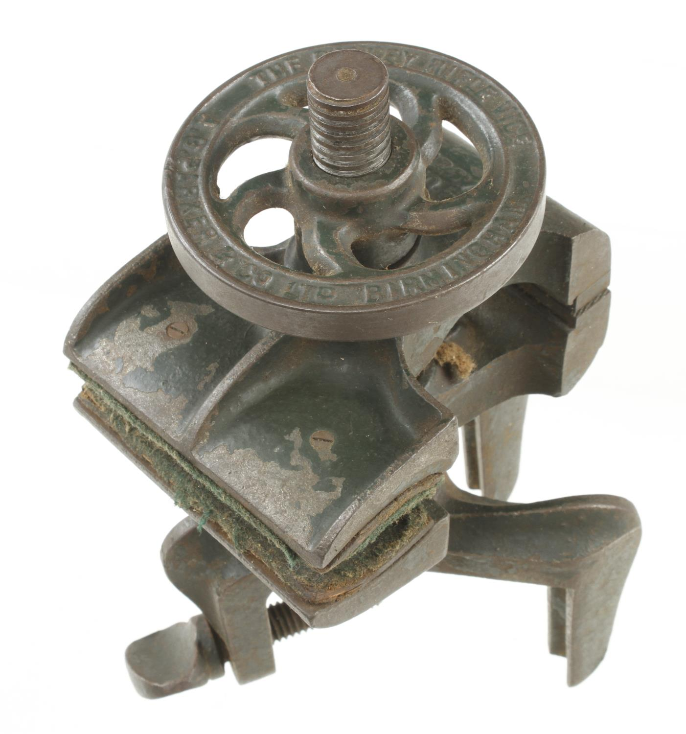 An adjustable vice with two jaws by A.G.PARKER & Co marked The Bristol Rifle Vice G+ - Image 3 of 3