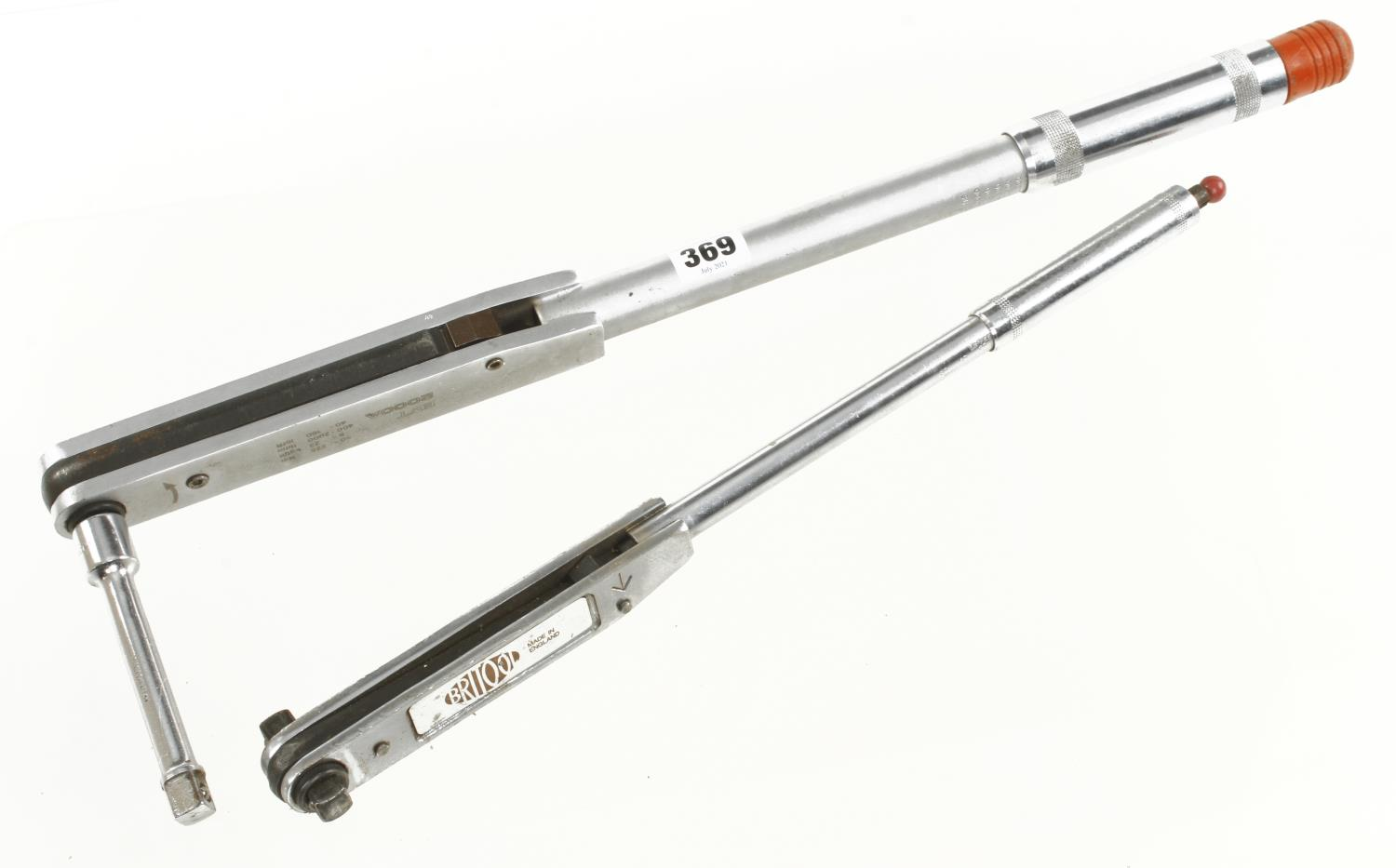 Two engineer's torque wrenches by BRITOOL G+