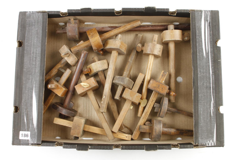 16 beech mortice and marking gauges G