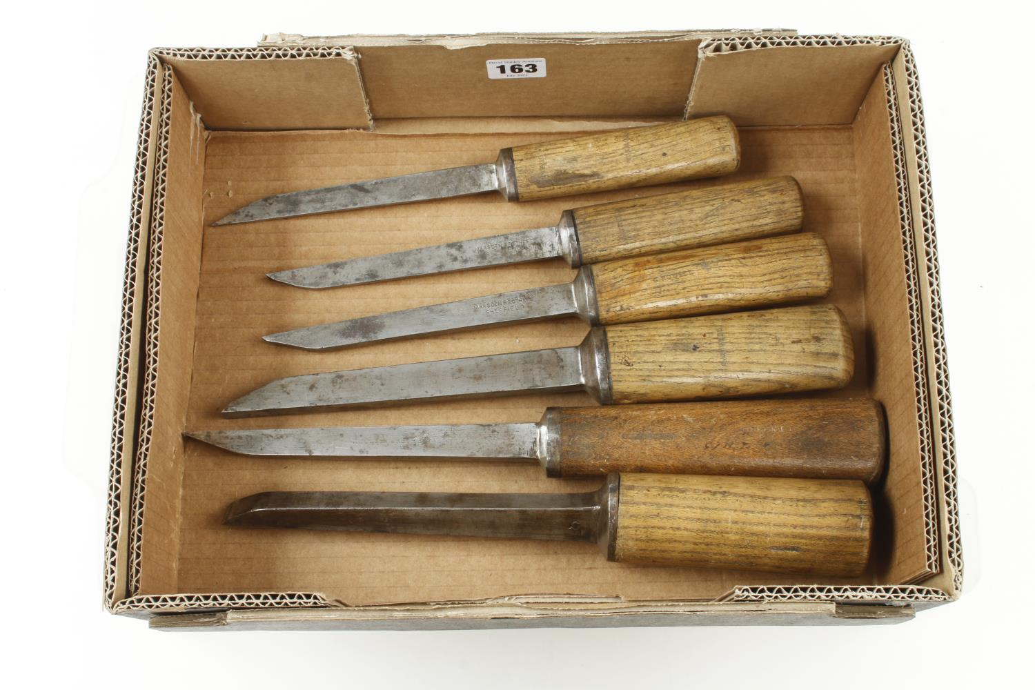 """Six mortice chisels 3/16"""" to 3/4"""" G+ - Image 2 of 2"""