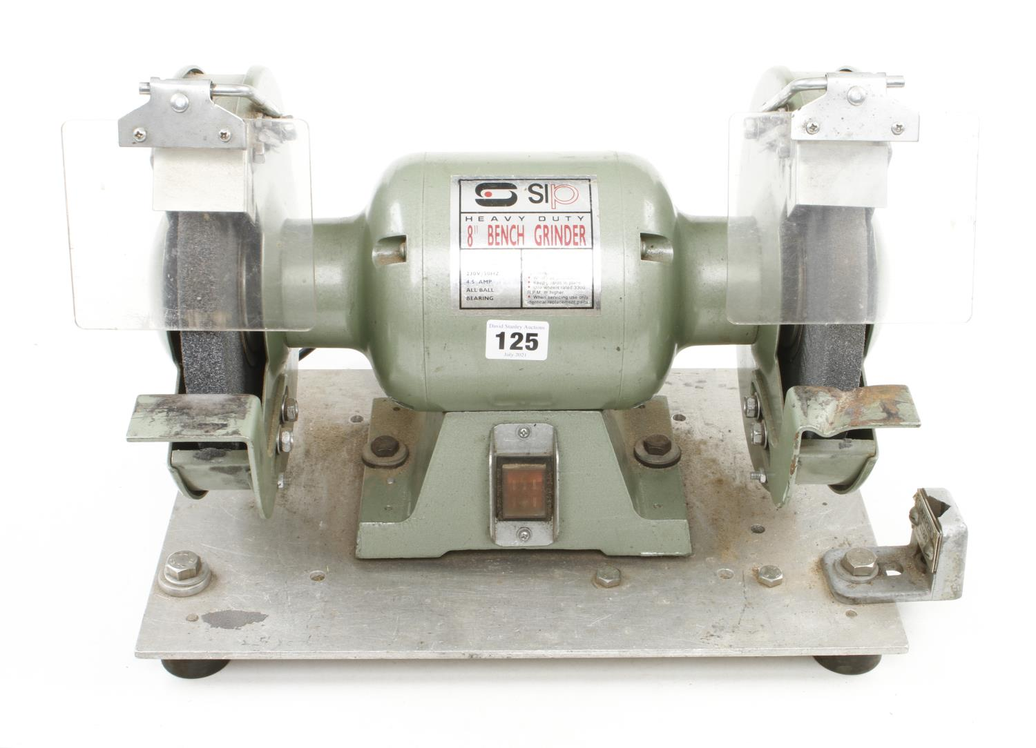 """An SIP 8"""" heavy duty bench grinder 240v Pat tested G++"""