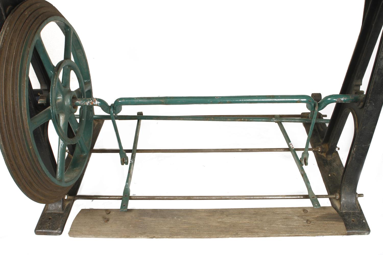 """An ornamental turning treadle lathe by MELHUISH London with overhead gear and 48"""" bed complete - Image 8 of 11"""
