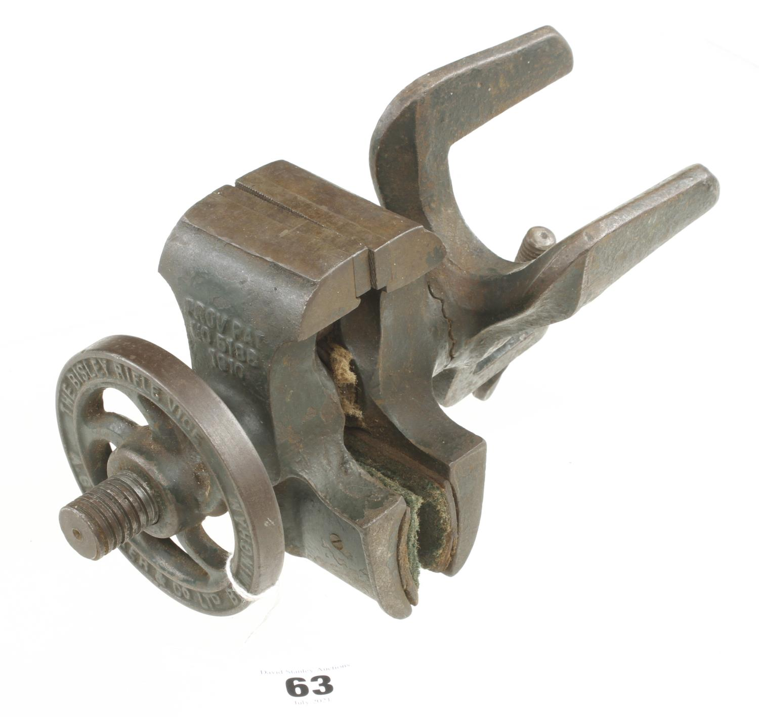 An adjustable vice with two jaws by A.G.PARKER & Co marked The Bristol Rifle Vice G+