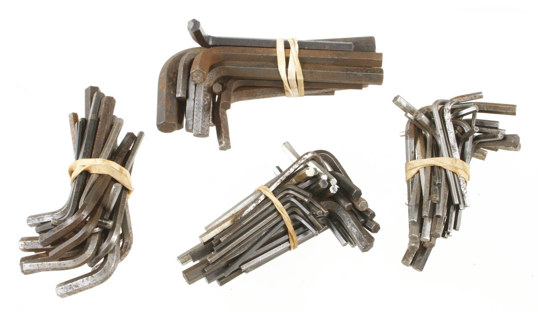 Five sets of allen keys G