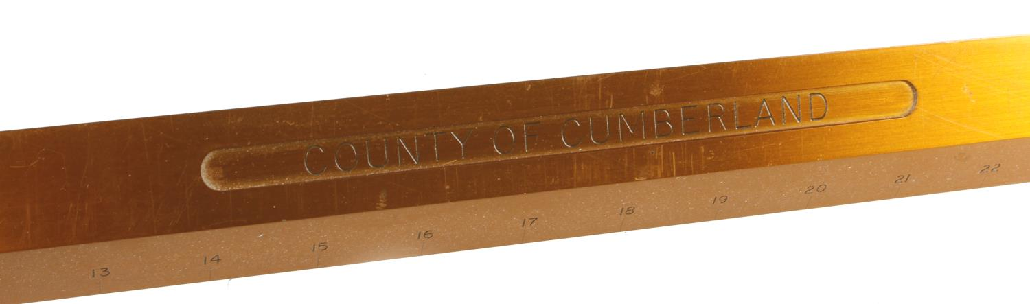 A County of Cumberland Standard Yard at 62 degrees F by DE GRAVE SHORT & Co Makers London c/w two - Image 3 of 7