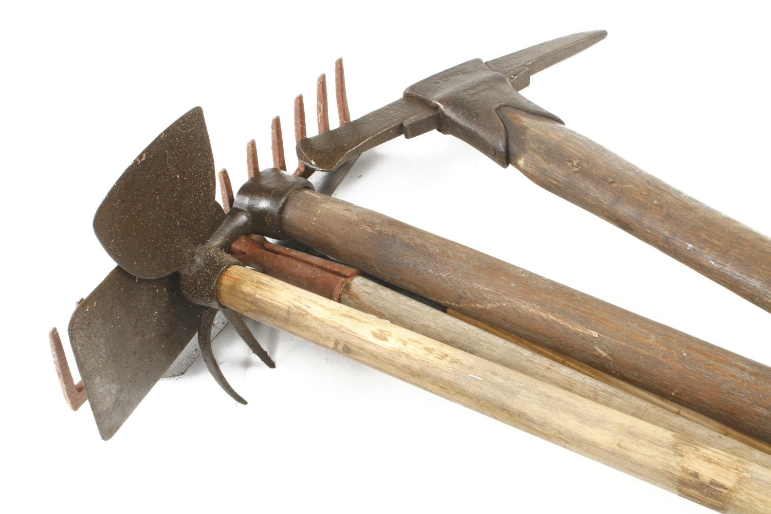 A rake, hoe and 3 other tools G - Image 3 of 3
