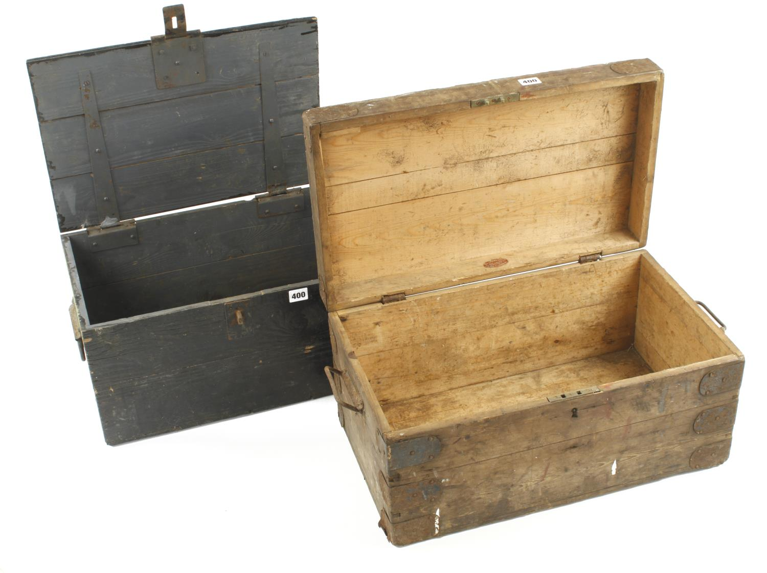 Two pine boxes G - Image 2 of 4