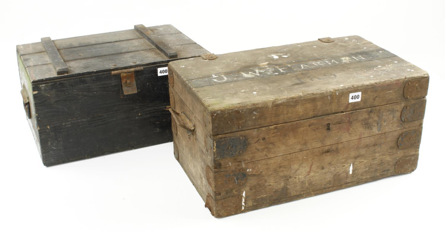 Two pine boxes G