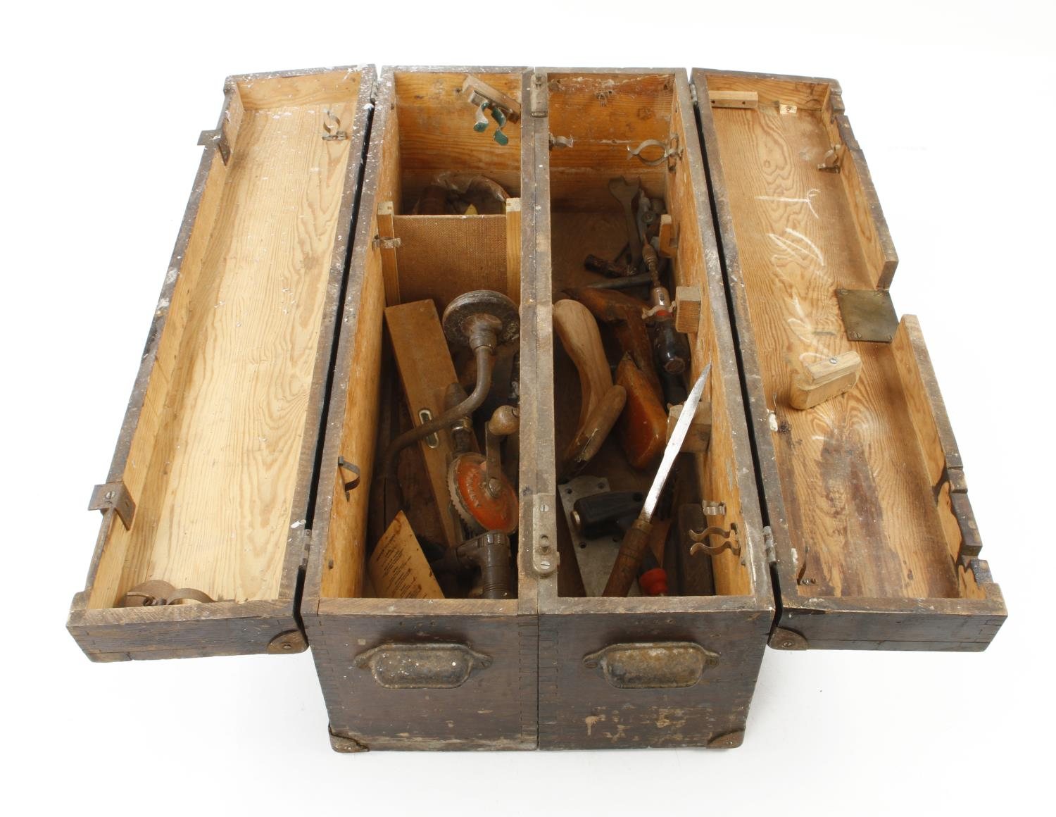 Two old tool boxes G - Image 3 of 4