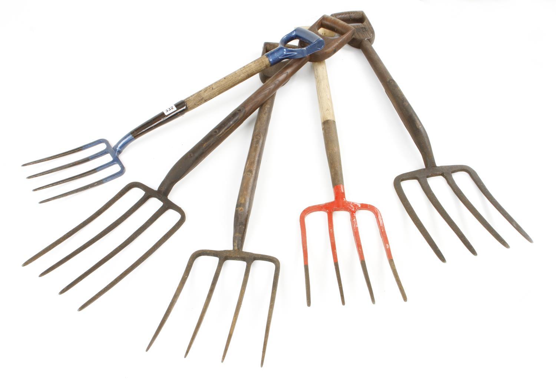 Five garden forks G+ - Image 2 of 2