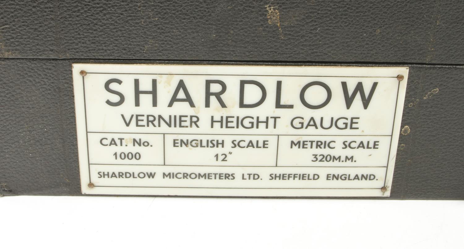 """An engineers 15"""" height gauge by SHARDLOW and a 12"""" vernier gauge by BENSON both in orig boxes G+ - Image 3 of 3"""