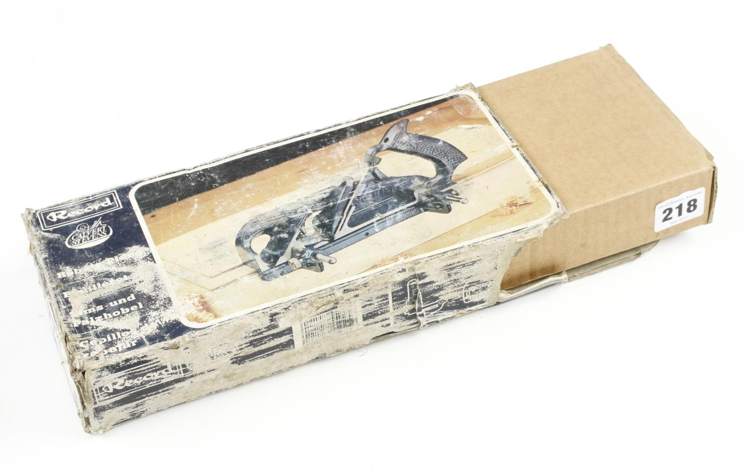 A RECORD No 778 double arm rebate plane with orig wrapping and instructions in orig tatty box F - Image 2 of 2