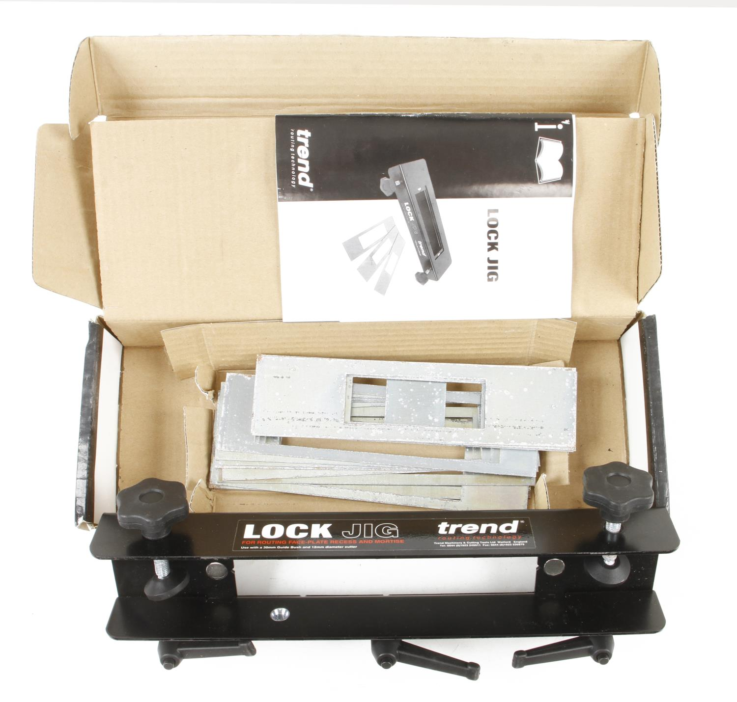 A TREND lock jig for routing face plate and mortice for most popular doors in orig box G++