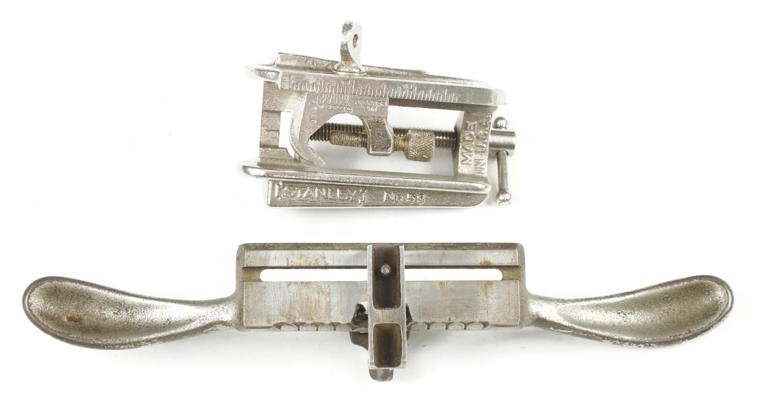 A STANLEY No 59 dowelling jig and a No 66 hand beader with one cutter G+ - Image 2 of 2