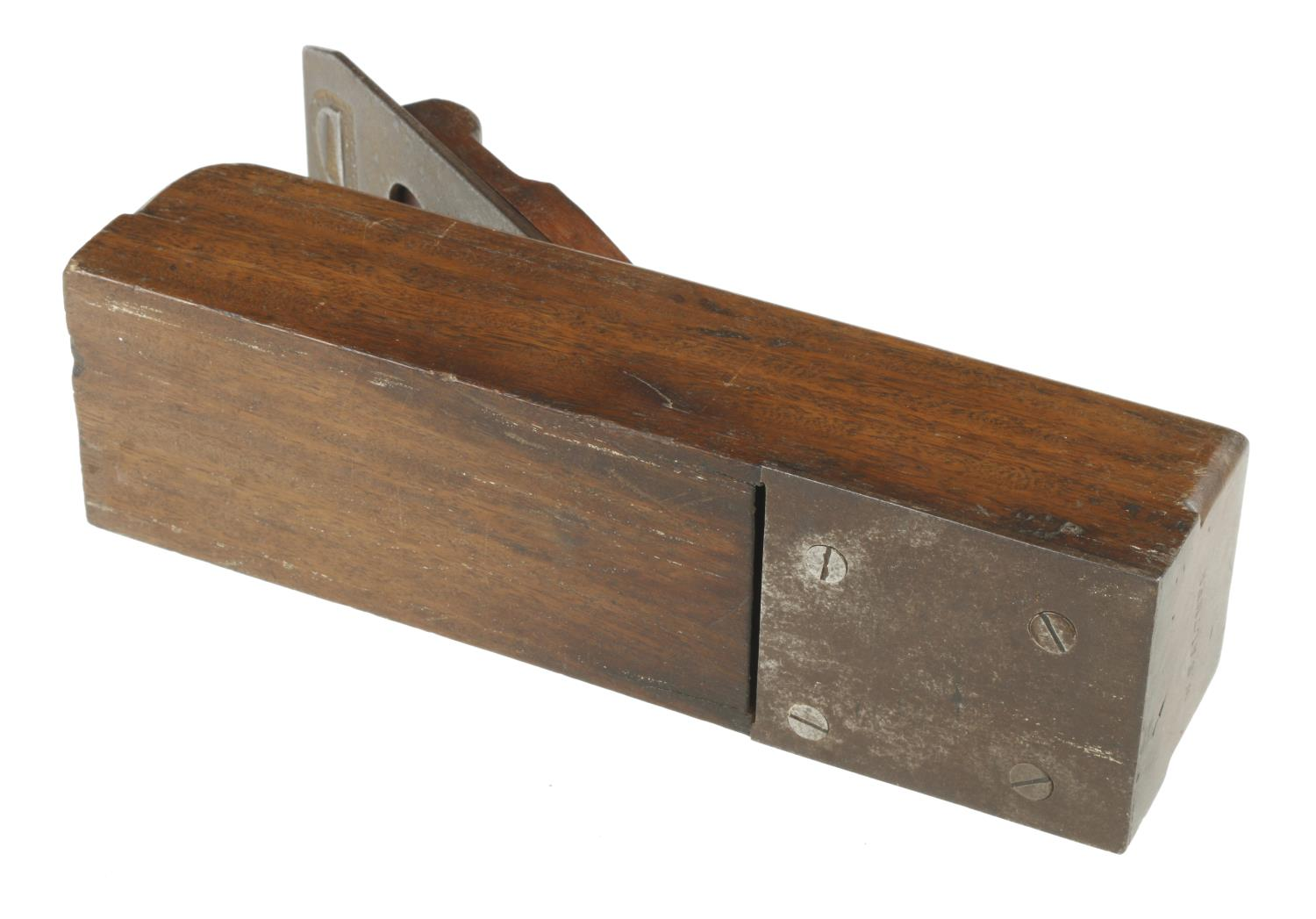 """A steel soled rosewood block plane 8 1/2"""" x 2 1/2"""" G - Image 3 of 3"""